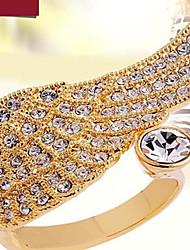 Anéis Grossos Liga Zircônia Cubica imitação de diamante Asas / Penas Moda Cor Ecrã Jóias Festa 1peça