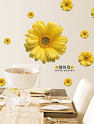 Removable Wall Stickers Wholesale Transparent Film Wall stickers Oversized Yellow Wall Stickers
