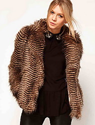 Women's Elegant Faux Fur Warm Coat