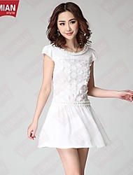 YUEMIAN™Women's Handmade Stitching Embroidery Beaded Dress