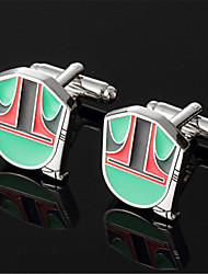 Men's Star Wars Boba Fett Helmet Comics Green Cufflinks