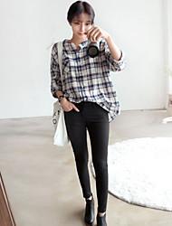 Normaal - Dun - Casual - Overhemd ( Katoen )met Lange mouw