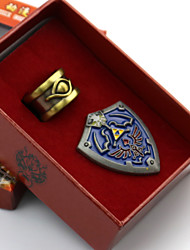 Jewelry / Badge Inspired by The Legend of Zelda Cosplay Anime/ Video Games Cosplay Accessories Badge Blue Alloy Male