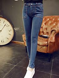 Women's Casual Skinny long Pants (Denim)