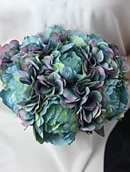 """10.2 """"hortensias artificiels de haute qualité et de pivoine bouquet artificiel pour le mariage et décoration 1 bouquet"""
