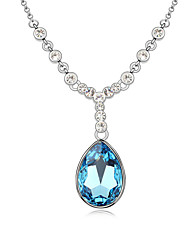 Women's Pendant Necklaces Jewelry Jewelry Gem Alloy Unique Design Fashion Light Blue Dark Blue White Jewelry For Party Gift Daily Casual