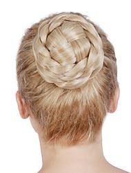 falso moño moño de pelo rodillo de pelo sintético peluca de pelo bollo moño moño moño postizo bollo rápido cabello