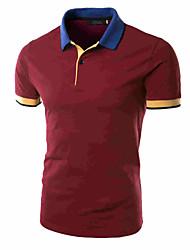 Men's Short Sleeve Shirt , Cotton/Polyester Casual