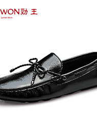 Men's Shoes Office & Career/Casual/Party & Evening Patent Leather Boat Shoes Black/White