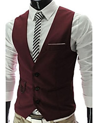 Men's Casual Sleeveless Suit Vest (Cotton)