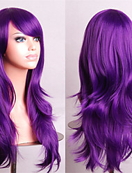 Cosplay Girl Fashion Must-Have Quality Curl Purple 70 cm Wig