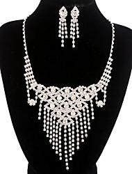 jóias de cobre prata moda longa queda totalmente strass jogo 1