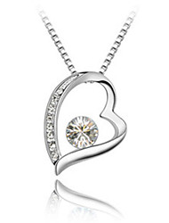 Austrian import crystal necklace High-end jewelry contracted Heart-shaped diamond necklace