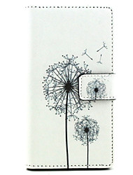 Dandelion Design PU Leather Full Body Case with Stand for Sony Xperia M2