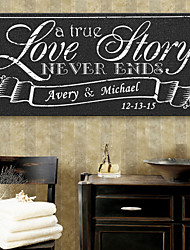 E-HOME® Personalized Signature Canvas Frame-Love Story