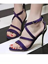 Women's Shoes Black/Gold/Purple/Silver Stiletto Heel Pumps/Heels (Rubber)