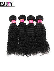 """4pcs / lot 10 """"-28"""" crépus bouclés cheveux 100% des extensions de cheveux indiens vierges naturel noir humaine regroupe les produits"""