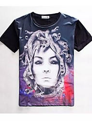 Women's High Quality Creative Personality Fierce Summer Breathable 3D Style T-shirt——Snake Lady