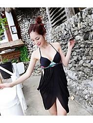 Damen Mehrteiler  -  Einfarbig Push-Up/Bügel-BH Polyester Bandeau