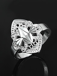 Hot Selling Products Lady Dress S925 Silver Plated Statement Ring Wedding Jewelry for Men And Women
