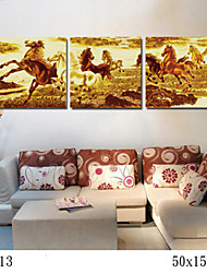 DIY Digital Oil Painting With Solid Wooden Frame Family Fun Painting All By Myself    The Galloping Horse 7013