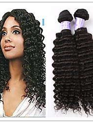 "3Pcs/Lot 8""-34"" Brazilian Virgin Hair Deep Wave Hair Extensions/Weaves Unprocessed Brazilian Human Hair Wefts Wholesale"