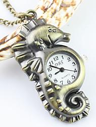 liga padrão hipocampo unisex chaveiro quartzo analógico relógio de bolso colar