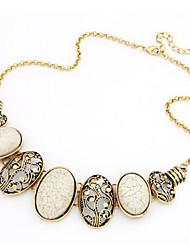 Ku Fashional High Quality Retro Hollow Gem Necklace