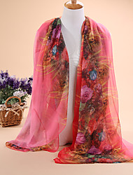 HOT The new selling flowers golden lady 30D chiffon scarf long scarf shawls