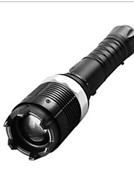 High Power Rechargeable Flashlight Long-Range Zoom