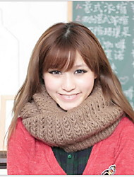Women Cute Thickening In Winter Wool Blend Scarf