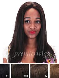 12 '' - 24 '' Yaki malaisien remy vierge de cheveux humains droite perruques perruques avant avec des cheveux de bébé pour les femmes