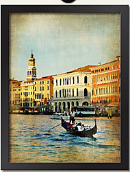 Wall Art landscape Picture Frame Wood Frame with Canvas with Plastic Organic Glass Random color 1Piece/set