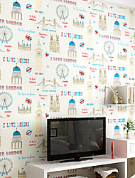 Новый радуга ™ современный обои ар-деко Парк развлечений картинки облицовки стен нетканого искусство стены ткани