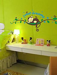 stickers muraux stickers muraux, singe de bande dessinée dormant sticker mural PVC arbre