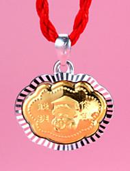 тысячи тонкой золотой кулон ожерелье tnlaid с золотом и серебром быть умным и разумным замок
