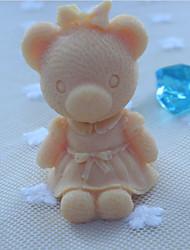 Bear Animal Soap Mold  Fondant Cake Chocolate Silicone Mold, Decoration Tools Bakeware