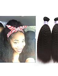 "3pcs/lot 10""-34""Peruvian Mink Hair Extension Kinky Straight #1b Unprocessed Virgin Hair Weft Weaves"