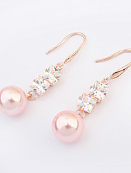 Earring Drop Earrings Jewelry Women Alloy / Imitation Pearl / Cubic Zirconia 2pcs White / Pink