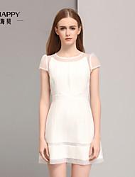 Women's CLOTHING STYLE Elasticity Sleeve Length Dress Length Dress (Fabric)