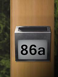la casa número signo solar de acero inoxidable recargable llevó la luz de la placa de puerta