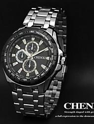 CHENXI® Men's Dress Watch Fashion Design Silver Steel Strap Wrist Watch Cool Watch Unique Watch