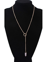 Women's Europe And The United States Pink Bullet Alloy Necklace Sweater Chain