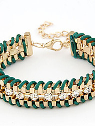 MPL fashion metal woven Diamond Bracelet