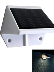 Solar Power Panel 4 LED Fence Gutter Light Outdoor Garden Wall