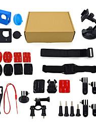 ourspop kit gp-K08-14-em uma acessórios para GoPro Hero 4 hero3 + câmera hero3