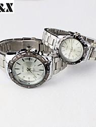 Couple's Fashion Quartz Water-Proof Alloy Steel Belt Watch (Assorted Colors)