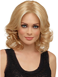Natural Synthetic Wigs Heat-friendly Fiber Golden Blonde Highlight Wig