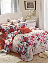 H&C ® High End Thicken Cotton Sanded Fabric Duvet Cover Set  4 Pieces Flower Pattern