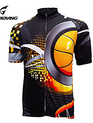 GETMOVING Mens Short Sleeve Clcying Jersey with 100% Polyester (The Ball)